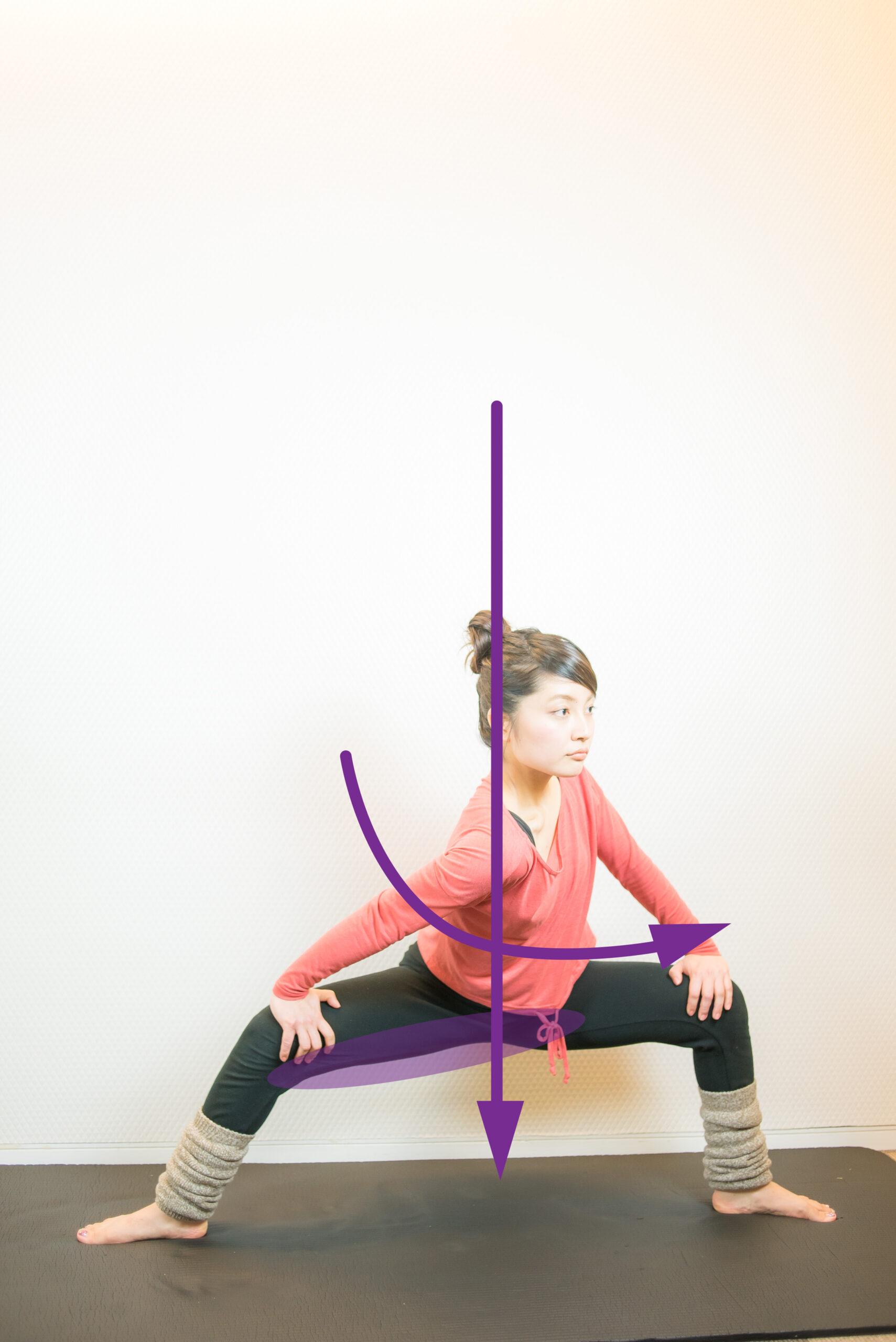 股関節内転筋のストレッチ